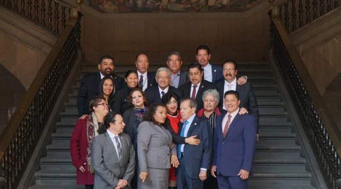El Diputado Federal Paco Huacus junto con el GPPT, se reúne con el Presidente Andrés Manuel López Obrador