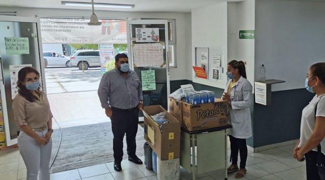 Hospital Militar y Centro de Salud reciben de Paco Huacus y Blanca Álvarez Chávez, material e insumos para protección y limpieza