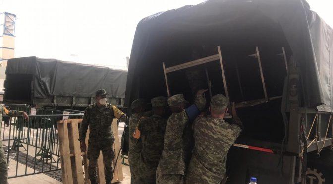 Ejército Mexicano trasladará insumos médicos a la ciudad de Apatzingán, Michoacán