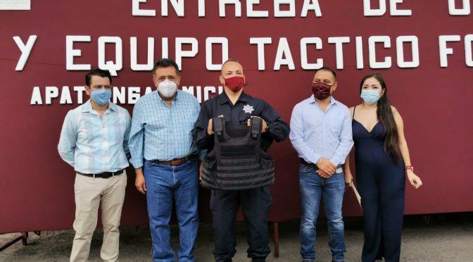 Se refuerza el equipamiento de la Policía Municipal de Apatzingán